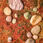 3 Dimensional stuffed pebbles inspired by beach combing finds at the Oregon coast