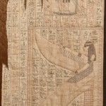 Many years ago I made an Egyptian themed quilt that I wanted to include a 'papyrus' scroll design. There was no such fabric available and so I had to design my own using an authentic ancient papyrus as the source design. The hardest part was to put all this work into the drawing and then to tear and distress this finished panel to mimic an ancient fragment scroll