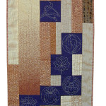 A pieced sampler of Komon (clan crest) designs