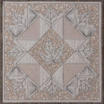 Wholecloth block with intricate quilting