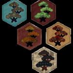 A variety of Bonsai Coasters