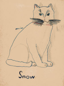 I have always LOVED drawing cats, this drawing was probably done when I was about 7 or 8 years old