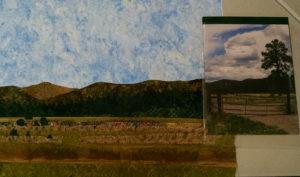 Charlotte's rural meadow scene.