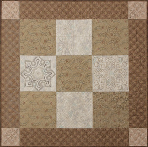 Machine Quilting 101 sampler - Taupe version