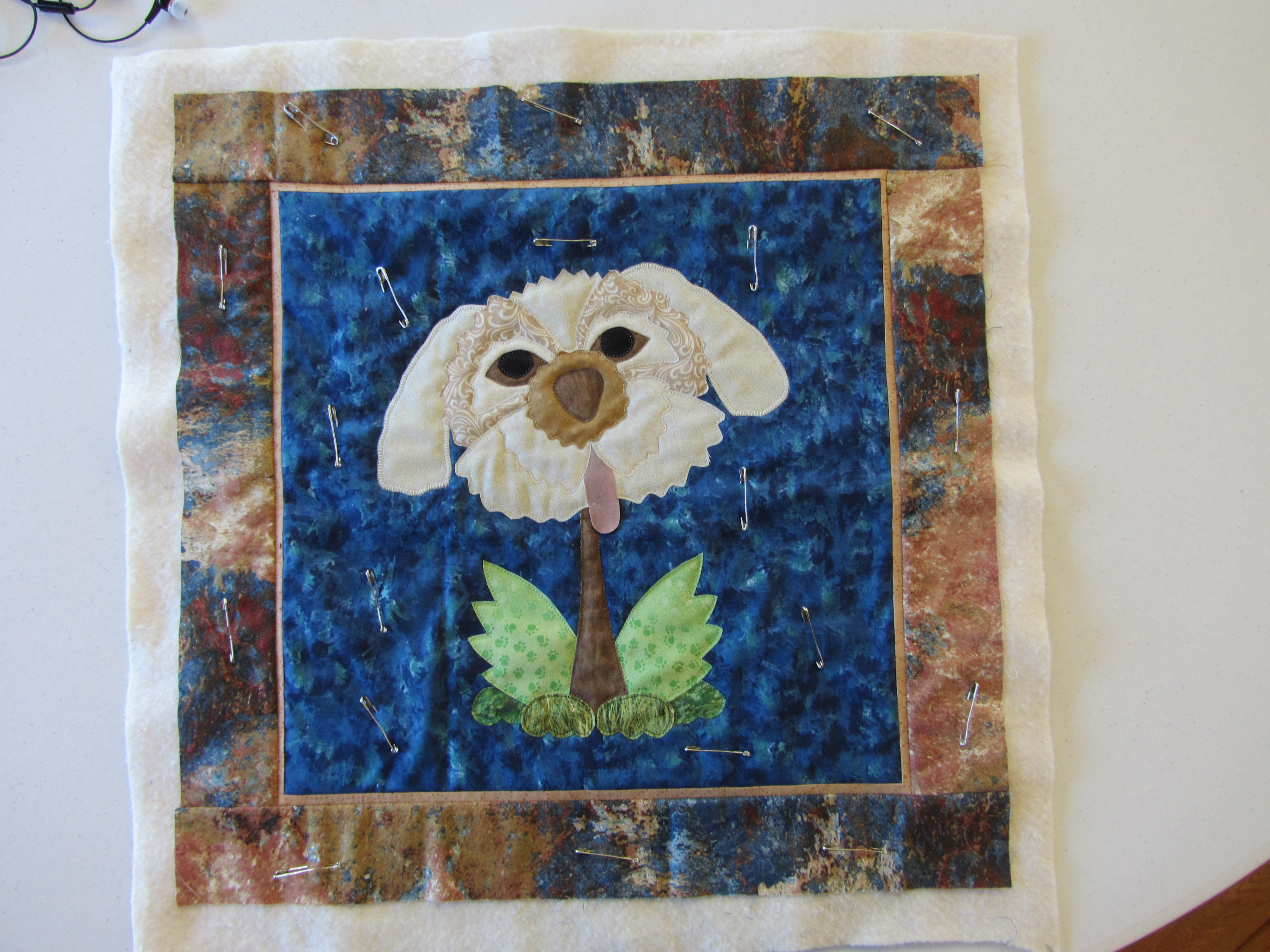 Quilt Patch Retreat - Bloomin' Dog (customized by student to better resemble her dog)