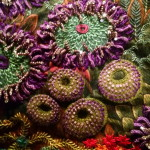 Appliqued & embellished Sea Anemones