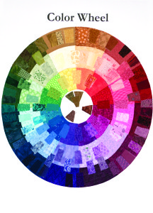 This is an extended color wheel made from fabric, the one made in class will be simpler