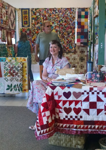 Featured Quilter Cathy Lundberg with her display