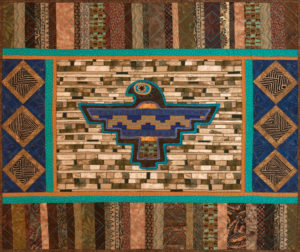 One of my Animal Totem quilts - Thunderbird